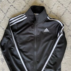 Adidas Boys Three Stripe Zip Jacket - Size L